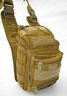 Тактический рюкзак - сумка 10л Molle Velcro Coyote