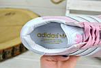 Кроссовки женские Adidas Gazelle розовые 2400, фото 5