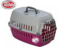 Контейнер-переноска для кошек Pet Nova Securetrans 48.5х32.3х30.1 см Розовый