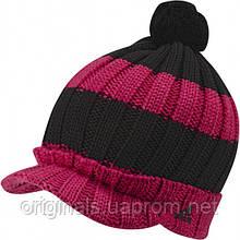 Детская шапка с козырьком и помпоном Адидас YG Beanie W59275 на распродаже