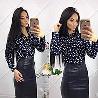 Красивая женская блузка с длинным рукавом