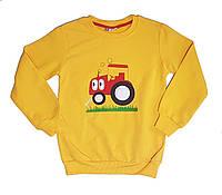 """Джемпер детский для мальчика """"Трактор"""", рост 122-128"""