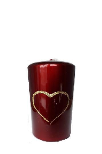 Свеча валентинка Love 50х80мм.