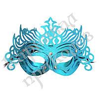Венецианская маска Изабелла (голубая)