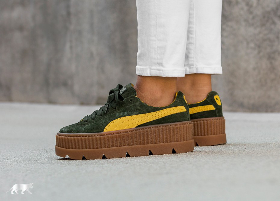 official photos e5934 2a092 Кроссовки Puma x Fenty Cleated Creeper Suede
