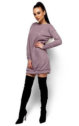 Стильне коротке рожеве плаття Fergy