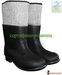Бурки гумові утеплені чоловічі (чоботи зимові) BF-PCVCZ B