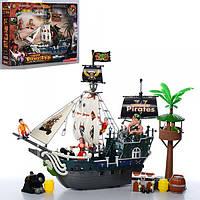 Корабль пиратов 39822C  46см,фигурка,крепость,пушка,сундук,в кор-ке,71-42-13см