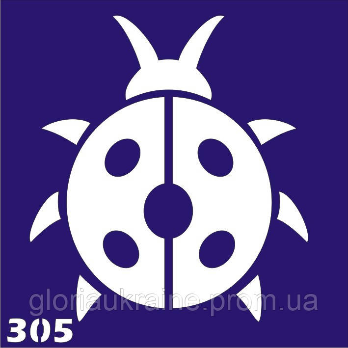 Трафарет для временного тату №305