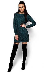 Стильне коротке темно-зелене плаття Fergy (S, M, L)