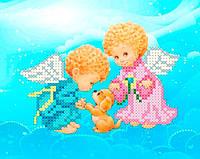 Схема для вишивки та вишивання бісером Бисерок «Ангели з собачкою» (A6)  10x15 2ed003966e47d