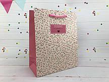 "Подарочный пакет ""Spring flowers"" пудра M (упаковка 12 шт)"
