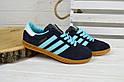 Кроссовки женские Adidas Hamburg синие 2525