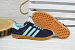 Кроссовки женские Adidas Hamburg синие 2525, фото 2