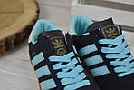 Кроссовки женские Adidas Hamburg синие 2525, фото 4
