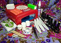 Набор для покрытия гель-лаком и наращивания ногтей.