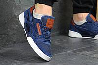 Кроссовки мужские Reebok Workout (синие), ТОП-реплика, фото 1