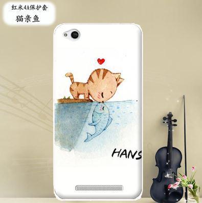 Бампер силіконовий чохол накладка з картинкою для Xiaomi Redmi 5A Поцілунок кота
