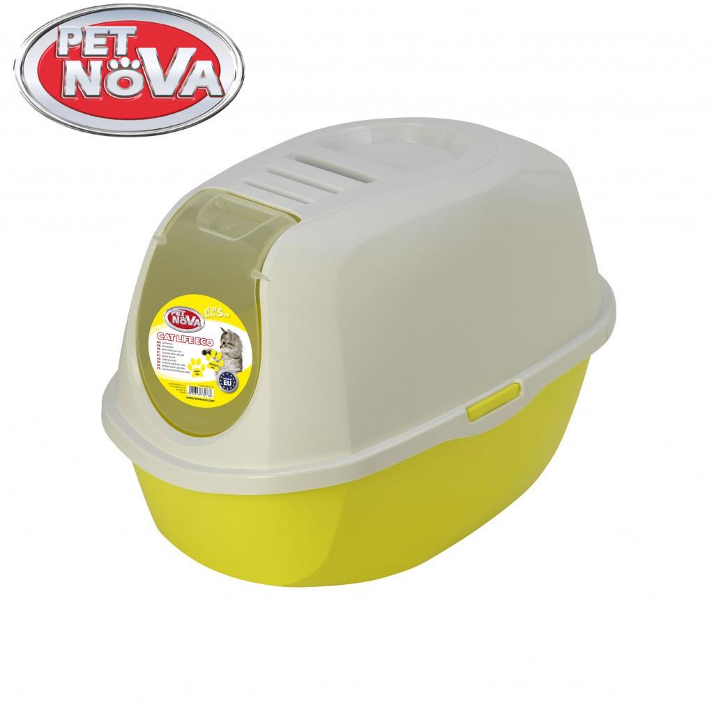 Закрытый туалет для кошек  Pet Nova CATLIFEECO-YL Желтый