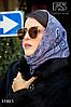 Бежевый павлопосадский платок без бахромы Золушка, фото 4