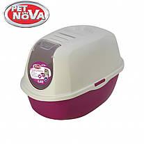 Закрытый туалет для кошек  Pet Nova CATLIFEECO-PI Розовый