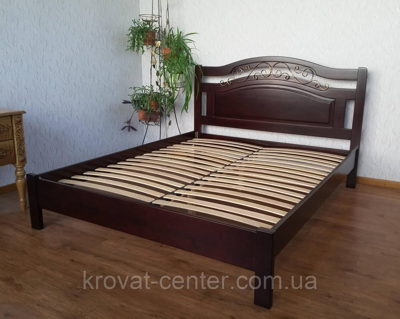 """Кровать двуспальная из натурального дерева """"Фантазия Премиум"""" от производителя"""
