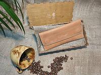 Кошелек (клатч) для женщин Bag-of-Dream BD501 (рыжий/кемел) ручная работа