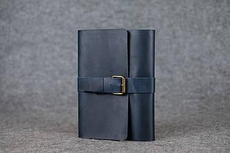 Обложка для ежедневника А5 с пряжкой  105115  Синий