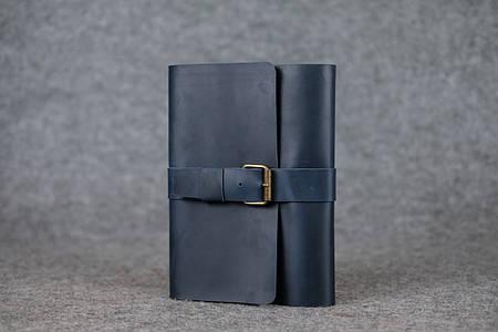 Обложка для ежедневника А5 с пряжкой |105115| Синий