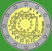 Ирландия 2 евро 2015 г. 30 лет флагу Европы . UNC.