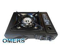 Портативная туристическая плита с адаптером в кейсе