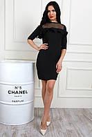 Эффектное черное платье для вечеринки