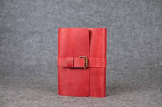 Обложка для ежедневника А5 с пряжкой  105116  Красный