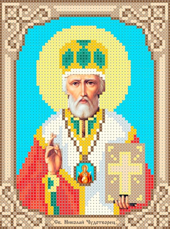 Схема для вишивки та вишивання бісером Бисерок «Св Миколай» (A6) 10x15 (ЧВ-1504)