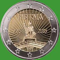Ирландия 2 евро 2016 г. 100- летие Пасхального восстания . UNC.