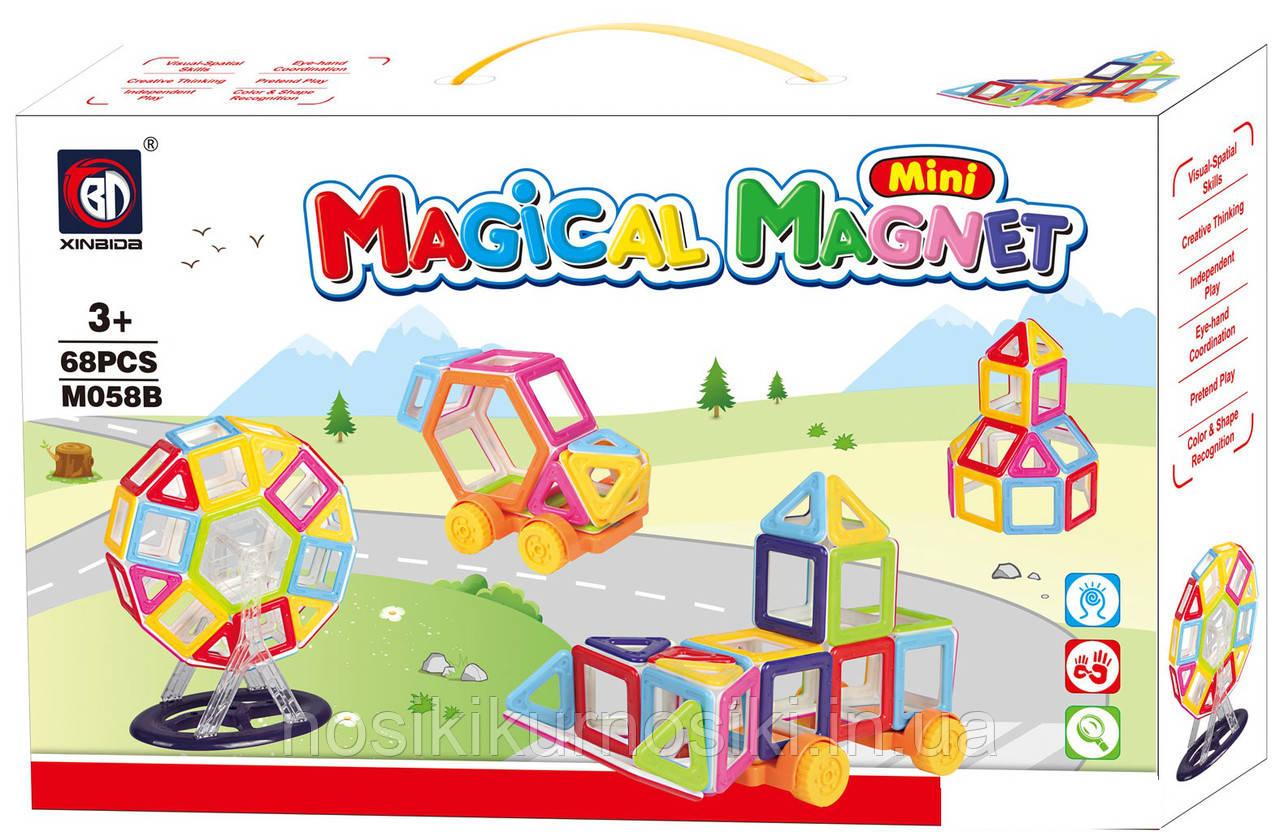 Конструктор магнитный mini Magical Magnet 68 деталей