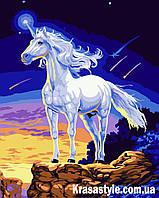 Картина маслом по номерам Единорог
