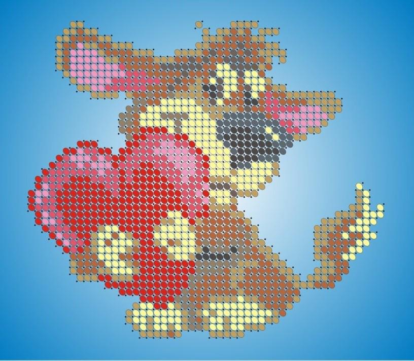 Схема для вишивки та вишивання бісером Бисерок «Собачка з сердечком» (A6) 10x15 (ЧВ-1132)
