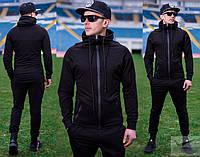 Спортивний костюм чоловічий, чорний колір, фото 1