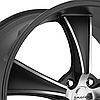 AMERICAN RACING BLVD Satin Black with Machined Face, фото 2