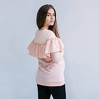 """Свитшот кофта для беременных и кормящих свитер """"Персик"""" c удобным секретом, для доступа к груди M S L XL"""