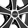AMERICAN RACING MACH 5 807 Satin Black with Machined Face, фото 3