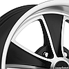 AMERICAN RACING MACH 5 808 Satin Black with Machined Face, фото 2
