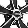 AMERICAN RACING MACH 5 808 Satin Black with Machined Face, фото 3