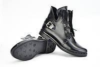 Ботинки черные кожаные на шнурках
