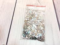 Конфетти (квадратики) серебро