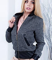 Женская замшевая куртка-бомбер (Тринитиmrb)