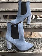 Весенние ботинки из натурального замша , фото 1