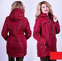 Женская куртка демисезонная большого размера, фото 1