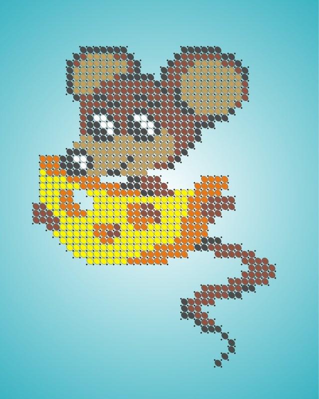 Схема для вишивки та вишивання бісером Бисерок «Мишеня» (A6) 10x15 (ЧВ-1128)